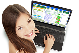 photo of girl in front of monitor