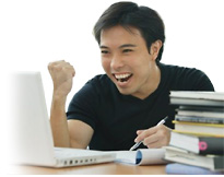 Image of an excited student